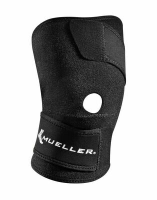 Mueller Knee Support Open Patella (One Size Fits Most Left or Right Knee)(Online Only, May take 1-2 Business Days)