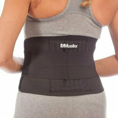 Mueller Adjustable Back Brace Support Level 3 Maximum (One Size Fits Most)