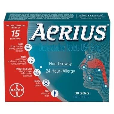 Aerius Desloratadine Tablets 5mg x 30 Tablets