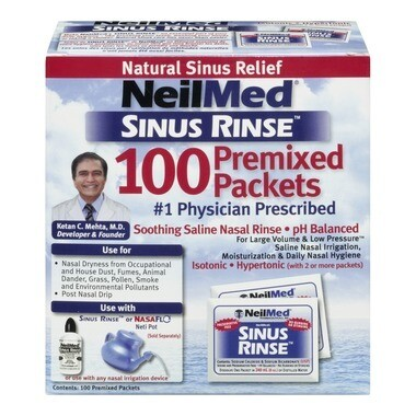 NeilMed Sinus Rinse Refill x 100 Packets