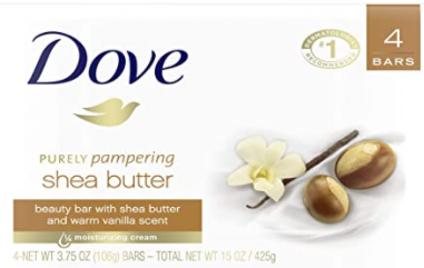 Dove Purely Pampering Beauty Bar, Shea Butter 4 BARSx90G