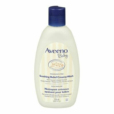 Aveeno Baby Fragrance Free Natural Colloidal Oatmeal Soothing Relief Creamy Wash 236ML