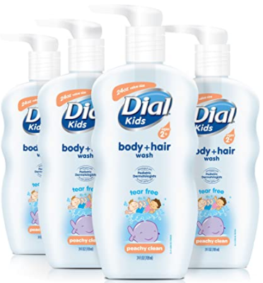 Dial Kids Body Wash, Peachy Clean, 354ML