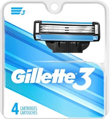 Gillette 3 Cartridges 4 Count (Fits Mach 3)