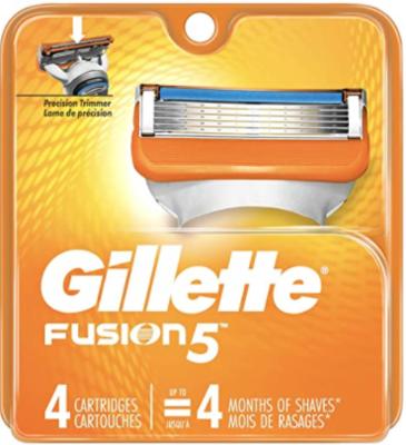 Gillette Fusion5 Men's Razor Blade Refill Cartridges, 4 Count