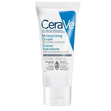 CeraVe Moisturizing Cream Daily Face & Body Moisturizer (57g or 453 g jar)