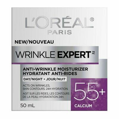 L'Oreal Paris Wrinkle Expert 55+ Anti-Aging Cream Day Moisturizer, with Calcium, 50 mL