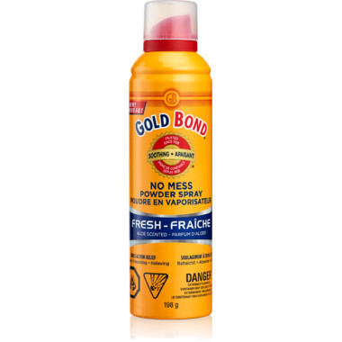 Gold Bond No Mess powder Spray Fresh 198g