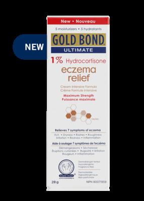 GOLD BOND ECZEMA RELIEF 1% HYDROCORTISONE CREAM 28g