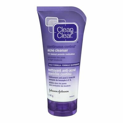 Clean & Clear Continuous Control Acne Cleanser, 141 g