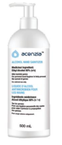 Hand Sanitizer Gel 70% Ascenzia 500ML