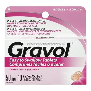 Gravol Easy to Swallow Tablets 50mg x 10