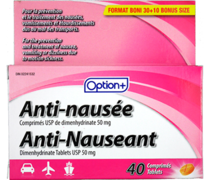 ANTI-NAUSEANT 50MG TABLETS 40