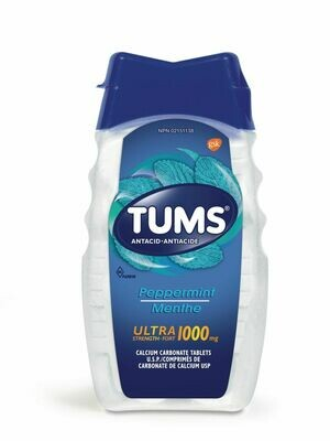 Tums Ultra Strength Antacid Peppermint x 72