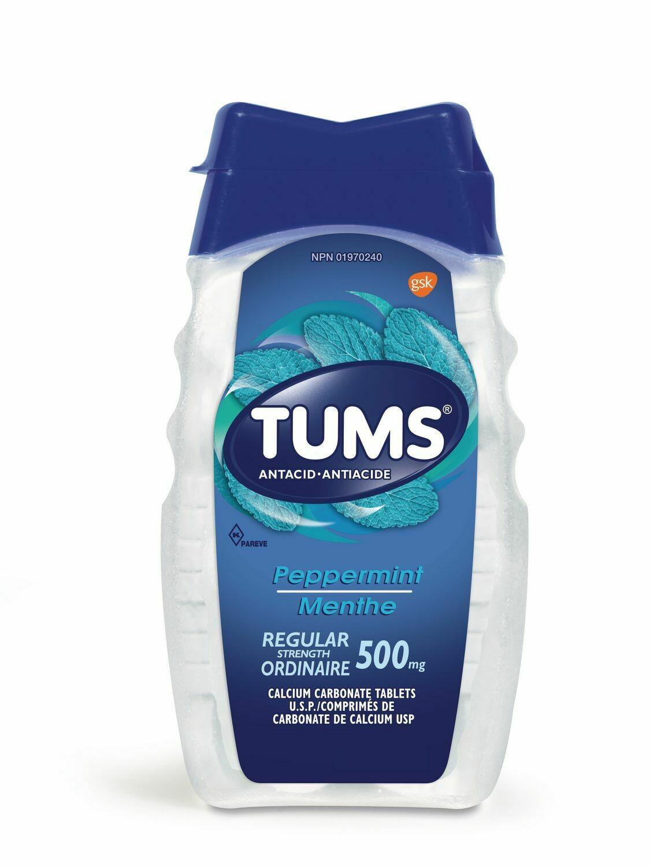 Tums Regular Strength 500mg Antacid x 150