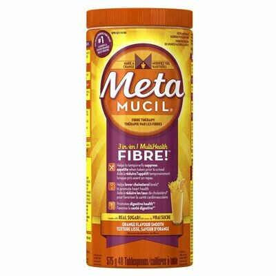 Metamucil 3 in 1 Fiber Supplement Powder Orange x575g