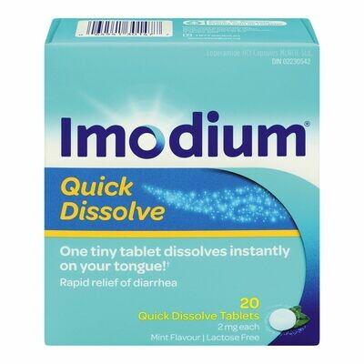 Imodium Diarrhea Relief, Quick-Dissolve Tablets x20