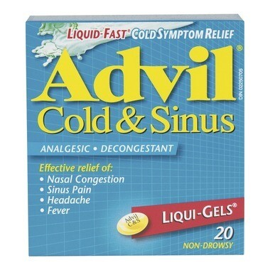 Advil Cold & Sinus Liqui-Gels x20 caps