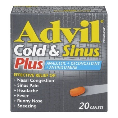 Advil Cold & Sinus Plus Caplets x20