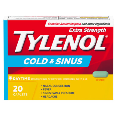 Tylenol Cold & Sinus Extra Strength Daytime Caplets x20