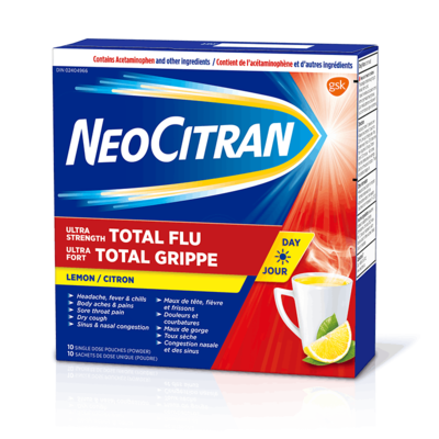 NeoCitran Ultra Strength Total Flu Daytime Non-Drowsyx 10