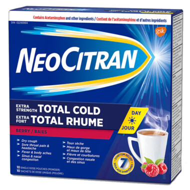 NeoCitran Extra Strength Total Cold Day Non-Drowsy  x10
