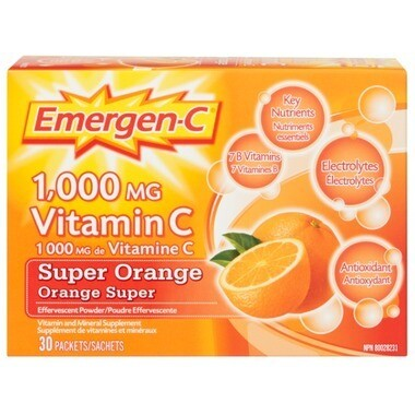 Emergen-C Super Energy Booster Instant Drink Mix x30