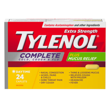 Tylenol Extra Strength Complete Cold, Cough & Flu Caplets x24