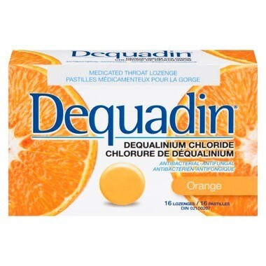 Dequadin Dequalinium Chloride Orange Lozenges x16