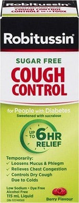 Robitussin Sugar Free Cough Control For People With Diabetes