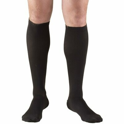 Truform Men's Compression Dress Socks Black 15-20mmHG