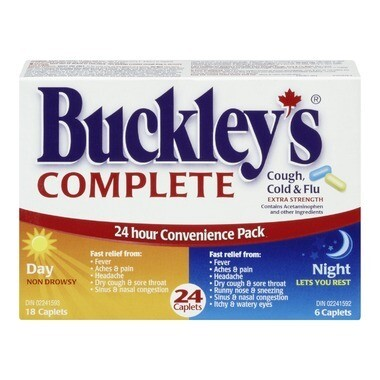 Buckley's Complete Extra Strength Day + Night Pack x24