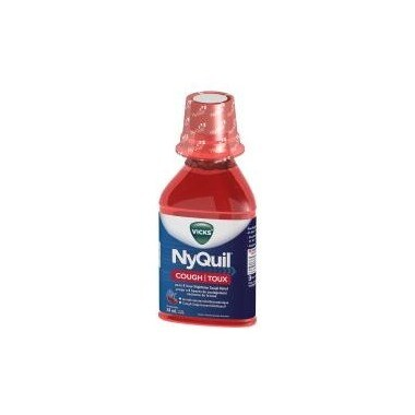 Vicks Nyquil Cough Syrup Cherry 354ML