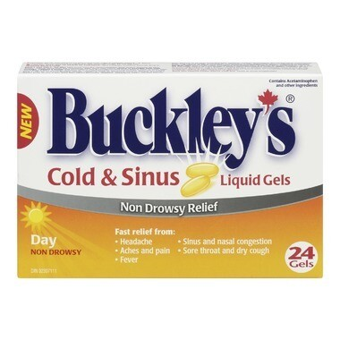 Buckley's Cold & Sinus Day Liquid Gels x24