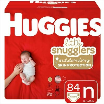 HUGGIES Little Movers/Little Snugglers Diapers, Giga Pack
