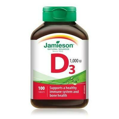 Jamieson Vitamin D 1000IU x 100 Tabs