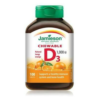 Jamieson VITAMIN D3 1000IU CHEWABLES x100