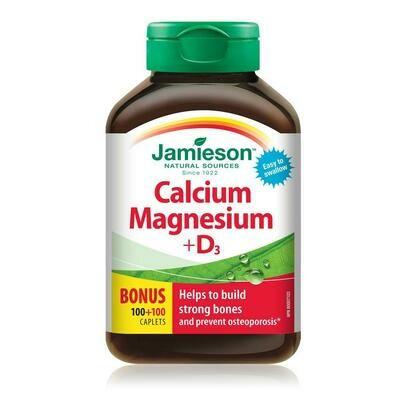 Jamieson CALCIUM, MAGNESIUM & VITAMIN D3 200 Caplets