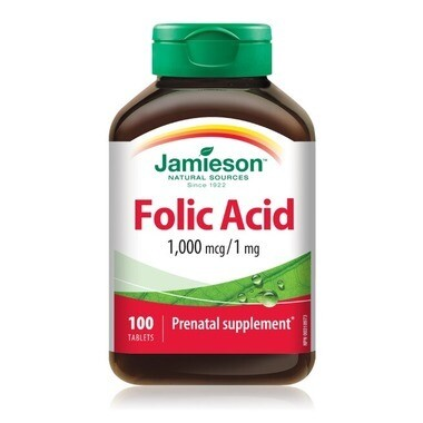 Jamieson Folic Acid 1mg x100