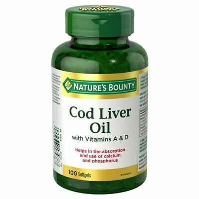 Nature's Bounty Cod Liver Oil x100