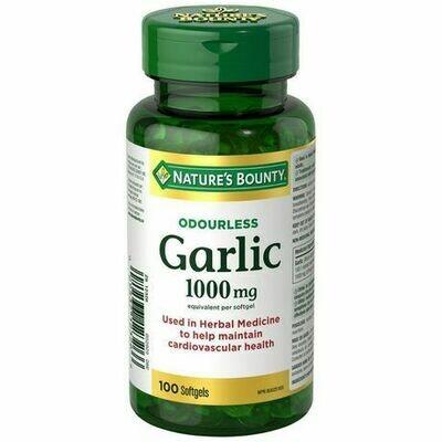 Nature's Bounty Odorless Garlic 1000mg x100