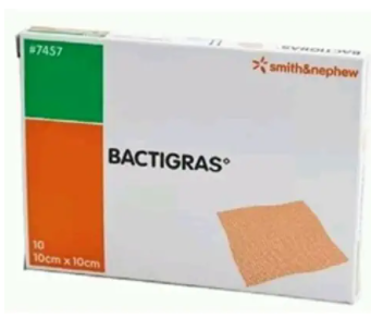 Bactigras 10cm x 10cm (x10) by Smith & Nephew, Count 10