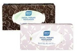 Savvy Facial Tissues 3 Ply 88 Tissues, Count 1 Box