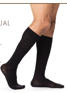 Sigvaris Compression Socks Knee High [Business Casual] For Men 15-20mmHG
