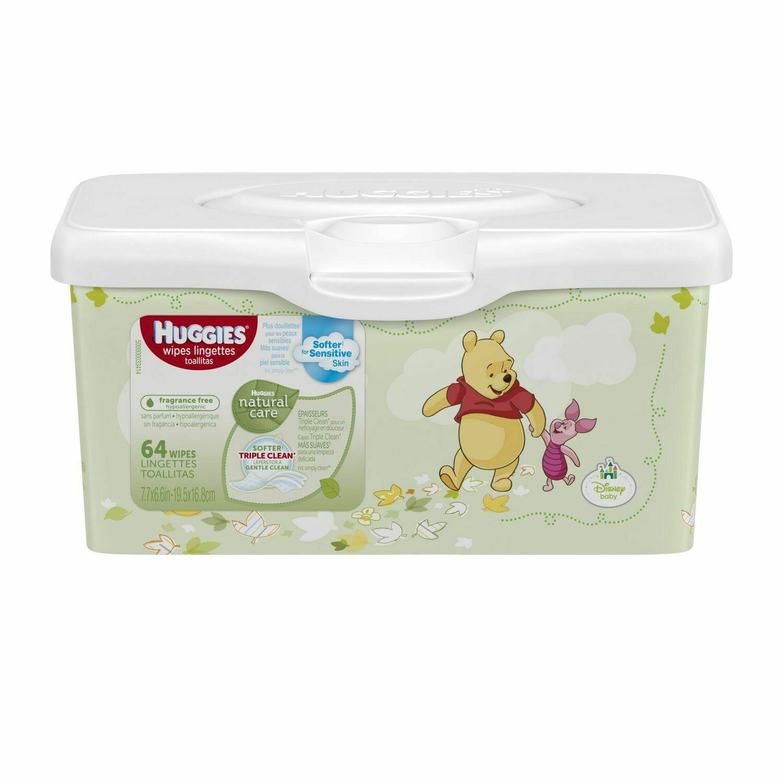 Huggies Natural Care Fragrance Free Wipes Tub
