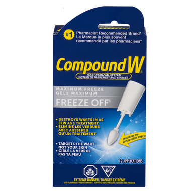 Compound W Freeze Off Wart Removal System 12 Applications