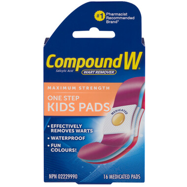 Compound W Wart Remover Pads For Kids x 16