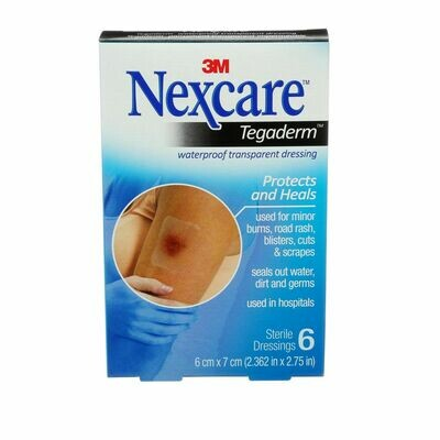 Nexcare™ Tegaderm™ Waterproof Transparent Dressing, Count 6