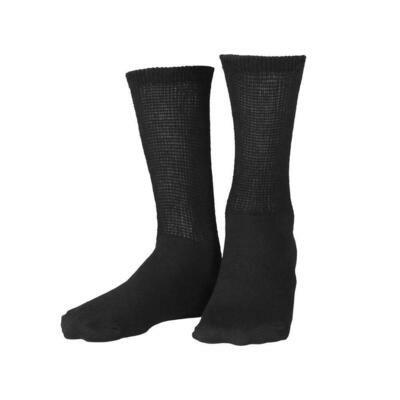 DIABETIC LOOSE FIT CREW SOCKS 3 PAIRS (White or Black)