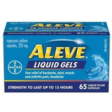 Aleve Liquid Gels 220 mg x65